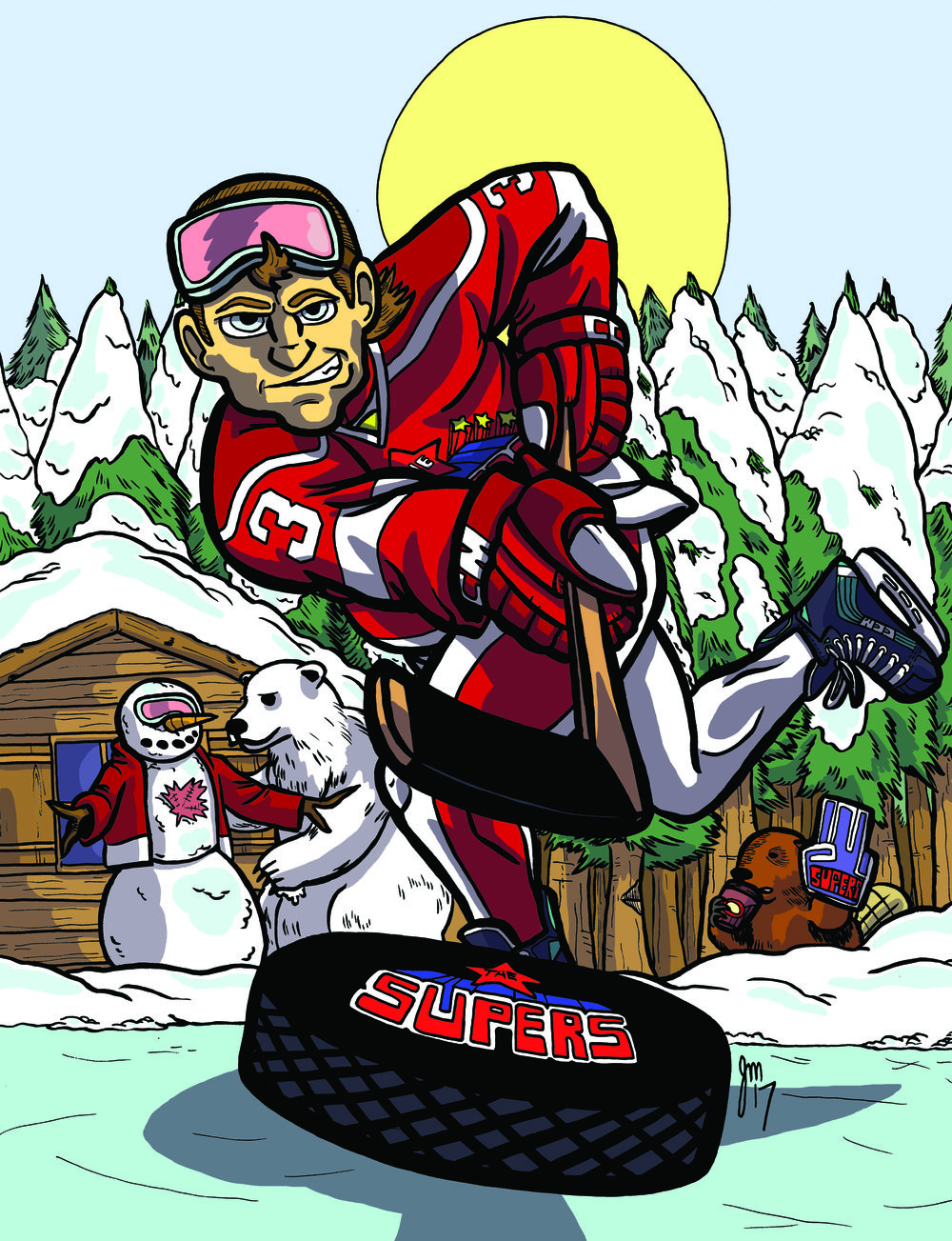 Celsius Slapshot! by Jeff Martin     Jeff's Art here...
