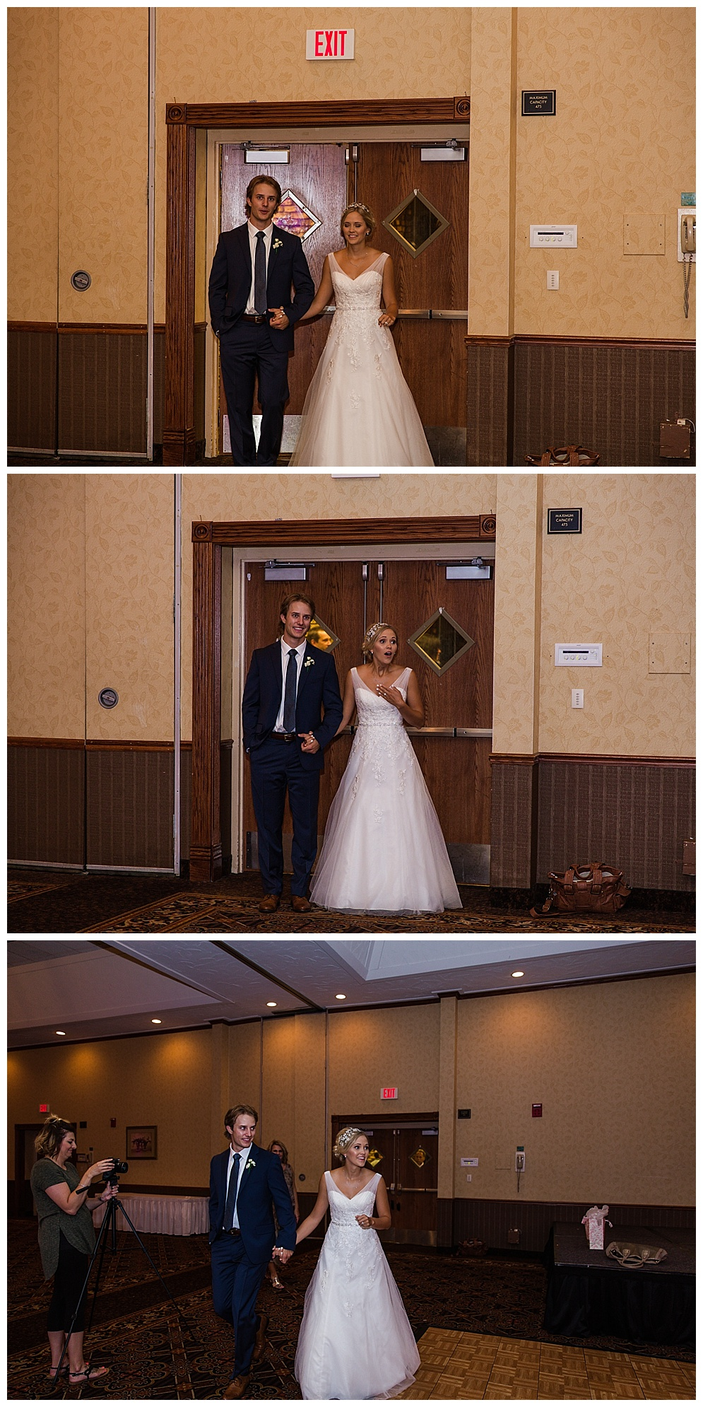 One of the many reasons I love the Ramkota, they close off the reception area until the Bride & Groom have had a chance to see it first! Mallory's reaction was priceless :)