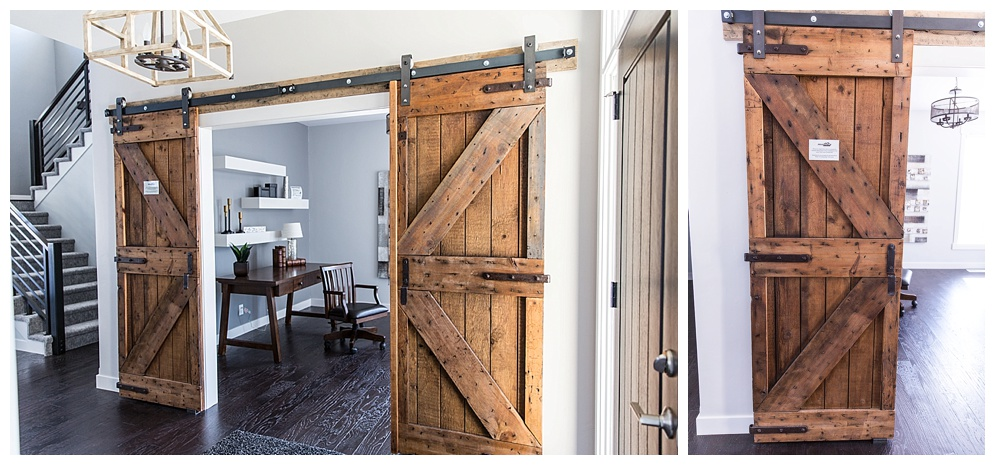 I am in LOVE with these custom barn doors!
