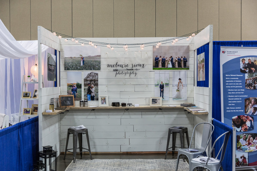 Thank you to all the awesome people who stopped by my booth and the wonderful brides who booked with me on Sunday! A HUGE Thank You to my husband for building me this gorgeous booth to showcase my work, his amazing friend Billy for helping us setup and take down my display, my parents for watching Baby Bristol, our neighbor Cole & Jess for doing the logo print work and my good friend Mandy for helping me pick images, proof documents and listening to me stress all week about this!