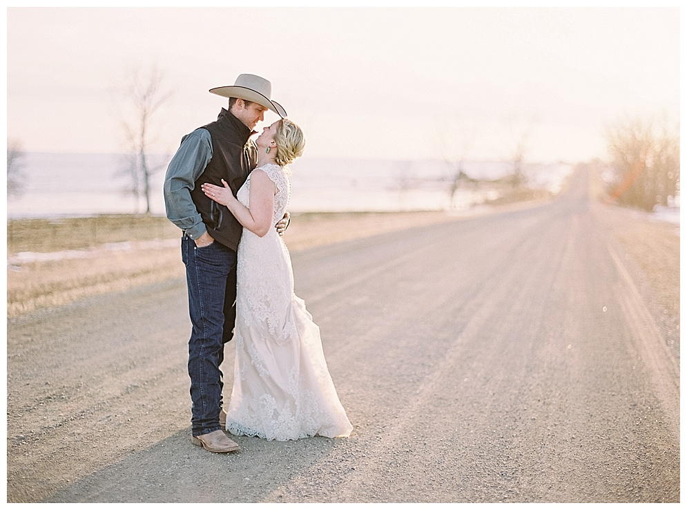 "On a brisk April day, Sheri & Eric said ""I Do"" at Black Leg Ranch."