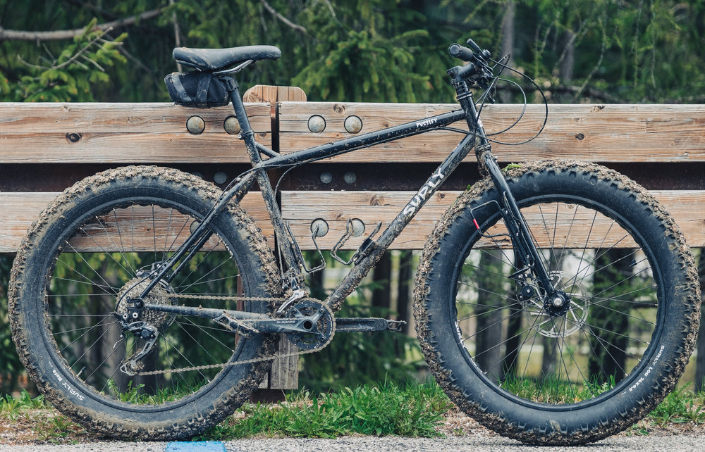 La Surly Pugsley al final de una jornada de viaje en Eslovenia.