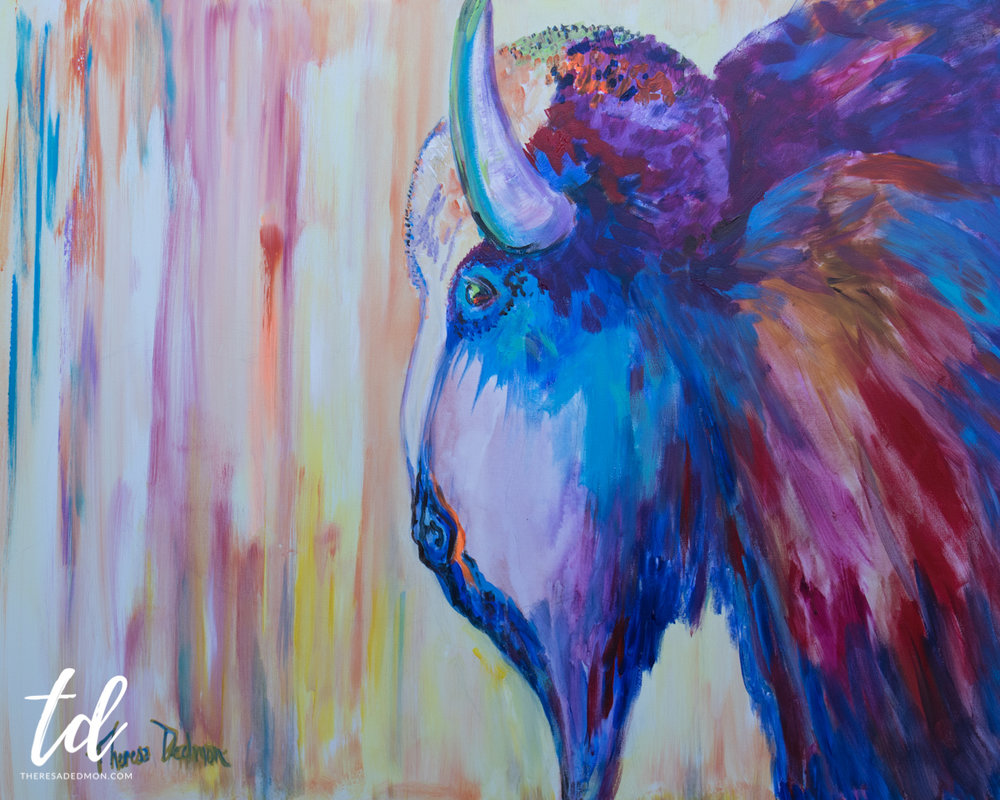 Why art is important theresa dedmon proudly the buffalo symbolizes americas heritage native americans found warmth from its pelt and food so they could live we celebrate their symbol on our biocorpaavc Gallery