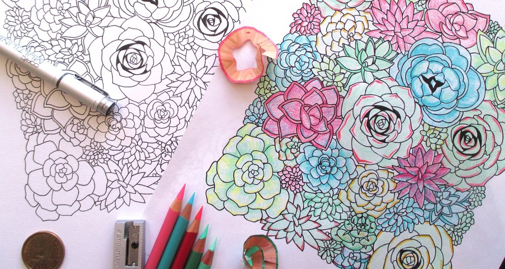 Download a Free Coloring Page of Succulents Now!