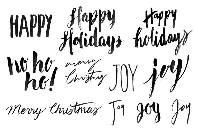 hand lettered christmas overlays vol 1 - Christmas Overlays