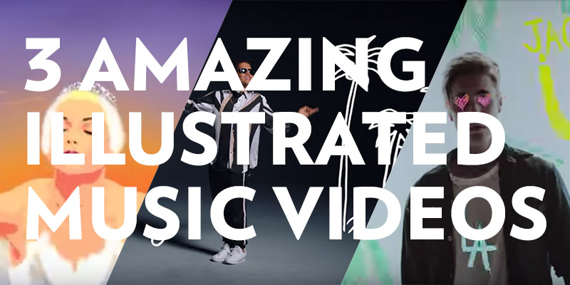 3 Amazing Illustrated Music Videos