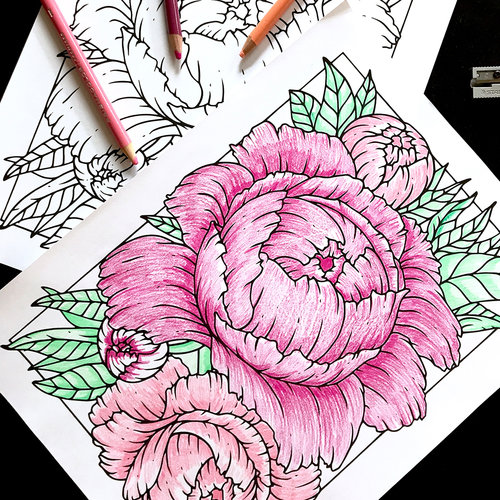 free coloring page of peonies boelter design co
