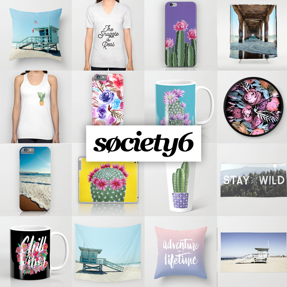 See all the art and collections on my Society 6 Shop!