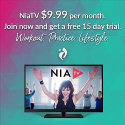 For when you cannot get to class, or simply want more Nia in your life, check out the array of gentle Nia, athletic workouts, therapeutic and educational videos available with your free trial or subscription. Click on the image above!