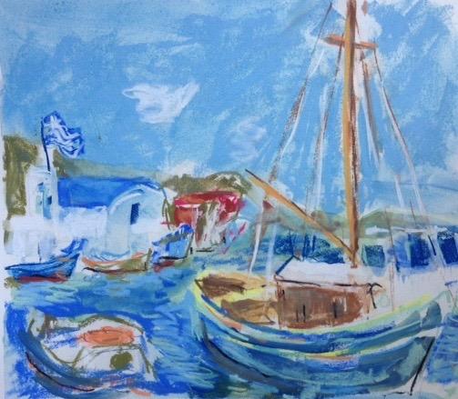Naoussa Harbor,pastel 14x11.jpg