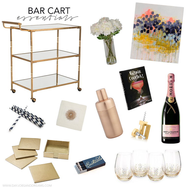 Bar Cart Essentials Collage