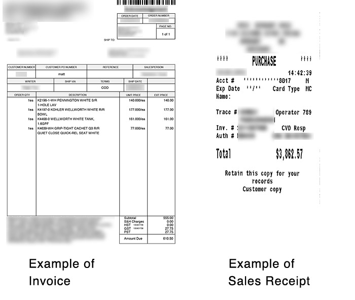 what s the difference between an invoice and a sales receipt