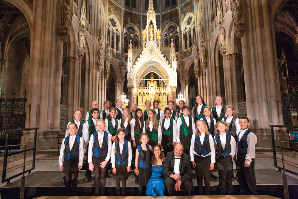 Kairos after a successful concert at the Votivkirche in Vienna, Austria • Photo by Geoffrey Biddle