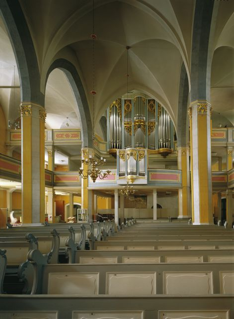 The organ loft of the Town Church in Weimar