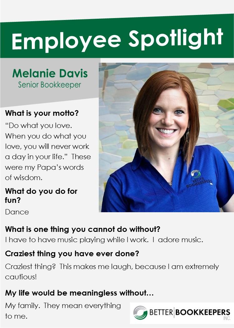 Employee Spotlight Melanie Davis