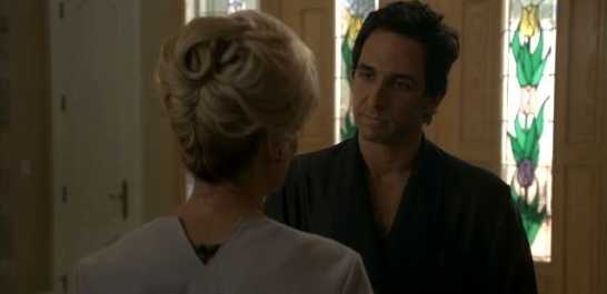 Jessica Lange and Amir Arison in American Horror Story
