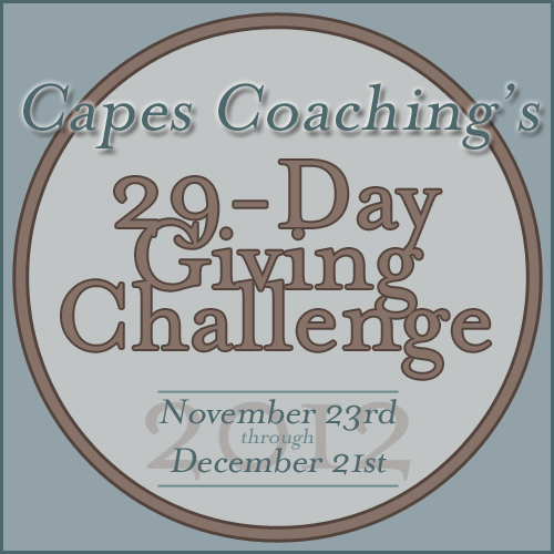 Capes Coaching's 2012 29-Day Giving Challenge