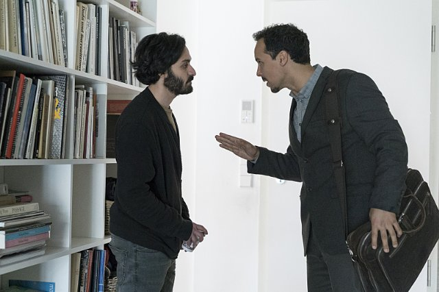 Rachid Sabitri (r) with Alireza Bayram (l) in Homeland. © Showtime