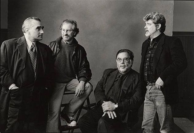 The Movie Brats: Martin Scorsese, Steven Spielberg, Francis Ford Coppola, and George Lucas.