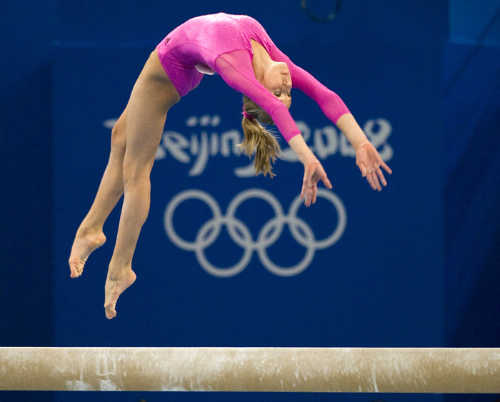 Nastia Liukin at the 2008 Olympics.