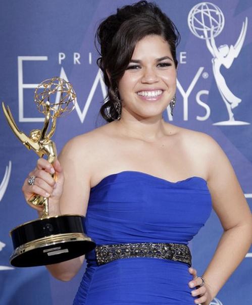 America Ferrera after her Emmy win in 2007.