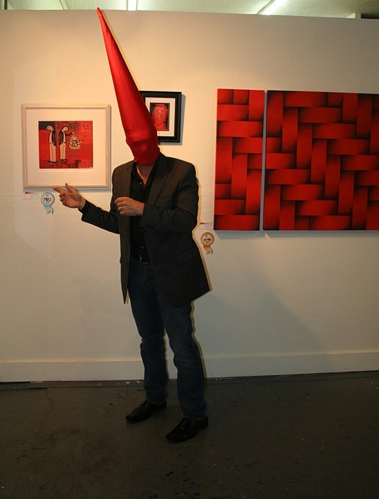 Tomte Art Lecture 2- Shades of Red, 2011 Performance