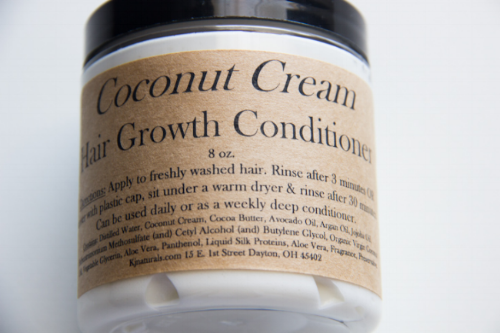 Some ingredients used with this product: Coconut Cream, Cocoa Butter, Avocado Oil, Argan Oil, JoJoba Oil, Organic Virgin Coconut Oil, Aloe Vera