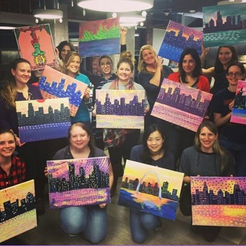 Painting night with the Clarity ladies! #ClarityWorkLife