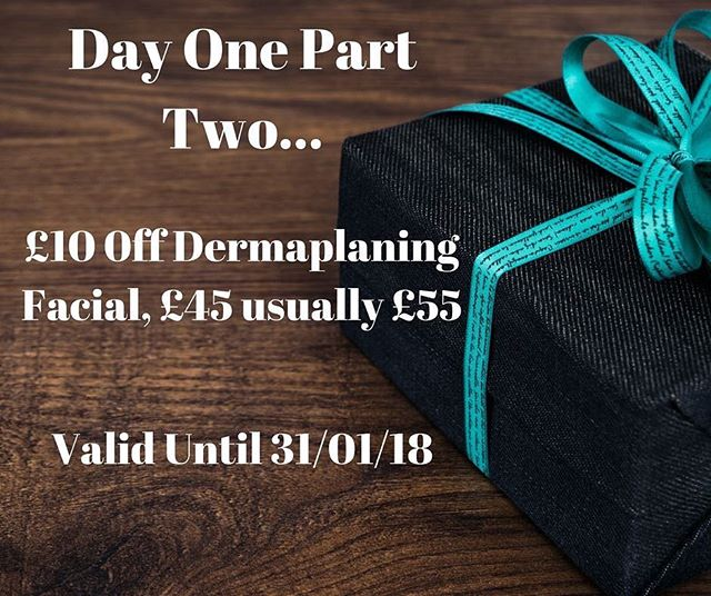 Due to being a day behind we have another offer for day one! Get £10 off when you book for a Dermaplaning Facial usually £55 now only £45! To book please call 01788 569111 and quote '12daysofxmas' 🎁#christmas#12daysofchristmas#christmasiscoming#beauty#salon#rugby#warwickshire#notlongnow#santaisonhisway