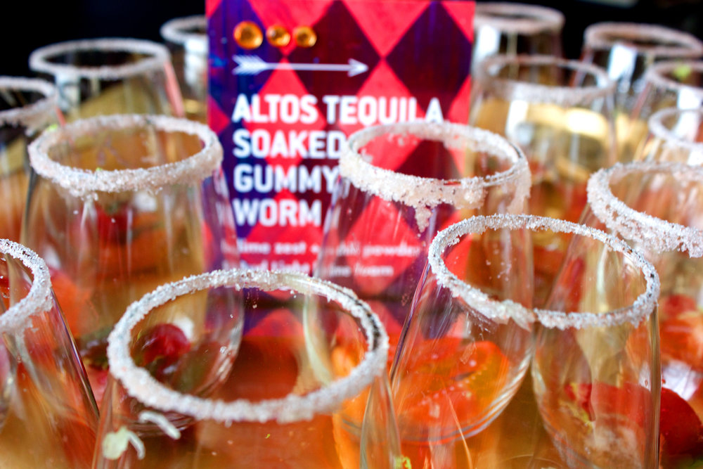 Guests were greeted with Altos Tequila-Soaked Gummy Worms