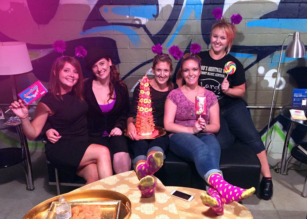 From Left: Erica Correll, Tiffany Wilcoxson, Martha Tiffany, Katie Fraser, Ali Ulanski