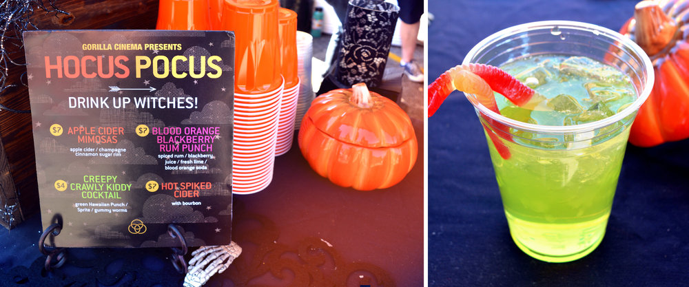 Custom cocktails from the Gorilla Cinema Presents movie pop-up:  HOCUS POCUS