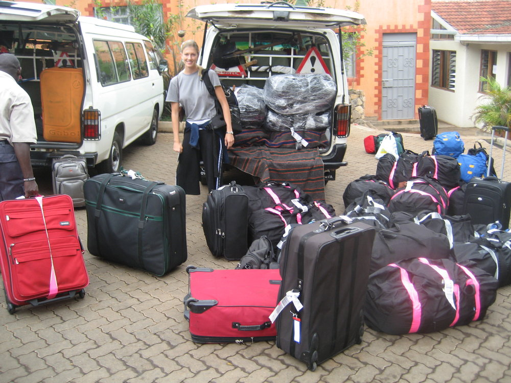 Geneva and all of the bags of gloves and medicines brought to Kenya.