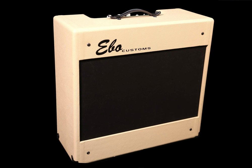 "20 watt Class A combo available in 1x12"", 2x10"" and 1x15"" configurations.   Plainfront and Texas 12 combos are also available with optional onboard Weber Minimass attenuator and/or EBO CUSTOMS' proprietary ""one-knob"" spring reverb"