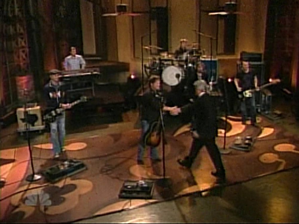 """the RRB rolled out another great record and hit the promo circuit, appearing on """"the Tonight show"""", """"late night with david letterman"""", and a bunch of other stuff. Geoff was gracious enough to use (and prominently display) his new del rio on several of these shows."""