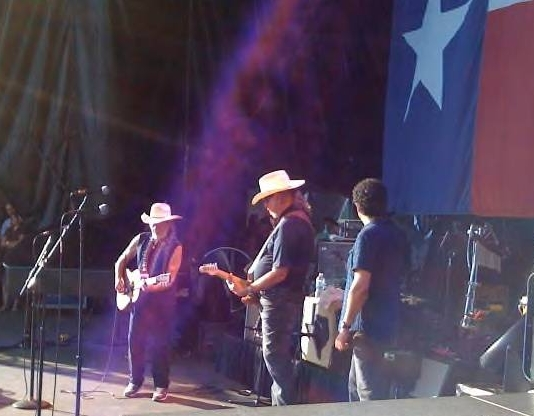 Willie, Ray Benson, & Mickey at Willie's annual 4th of july picinic in Austin.