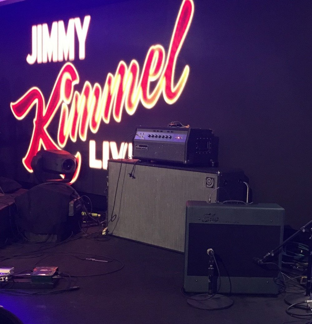 Our pal Josh Cross rockin' this Del Rio in LA for a Kimmel taping with Justin Moore.