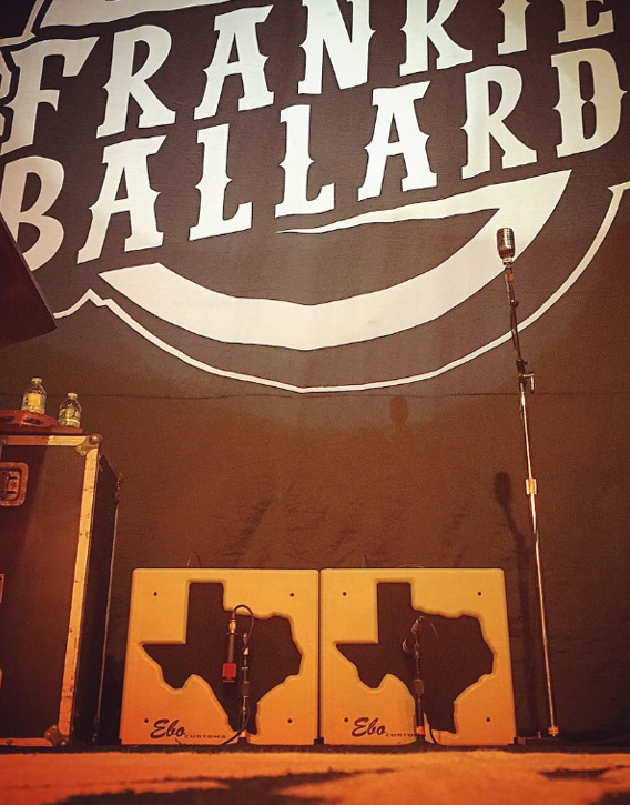 "The incomparable Frankie Ballard's pair of touring amps...the only two ""EL RIO"" models, built for frank & named after his fabulous album of the same name. I really love this cat & his band...they're the shit. go see them!"