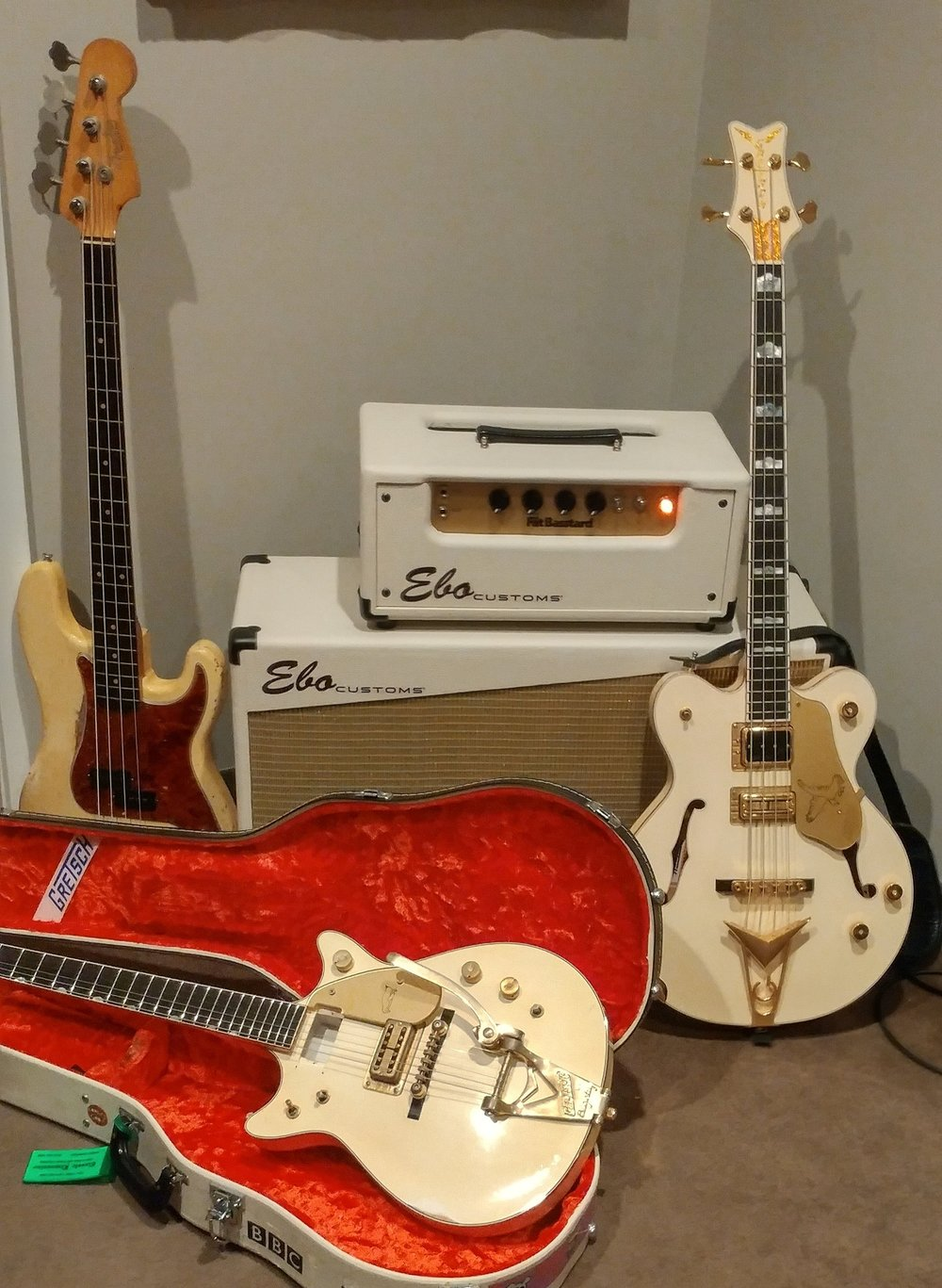 Tom Petersson came in for overdubs with this stuff…was not supposed to be a photo op, but C'MON…too cool.
