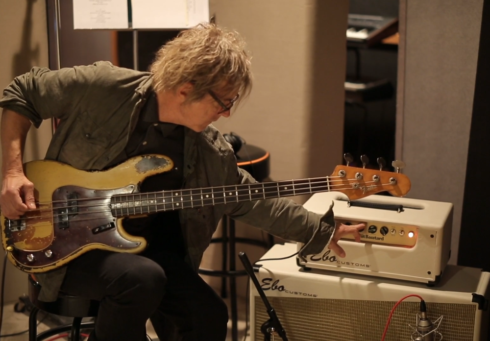 Tom Petersson dialing in the Fat Basstard at Love Shack