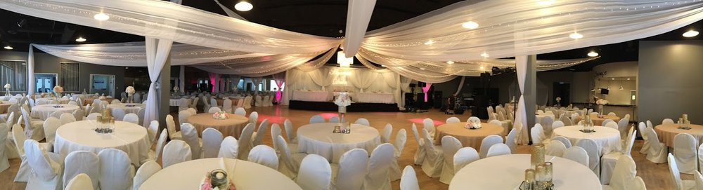 Panoramic of The Grand Ballroom Wedding Reception