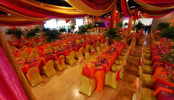 Orange, Pink & Yellow Themed Wedding Reception