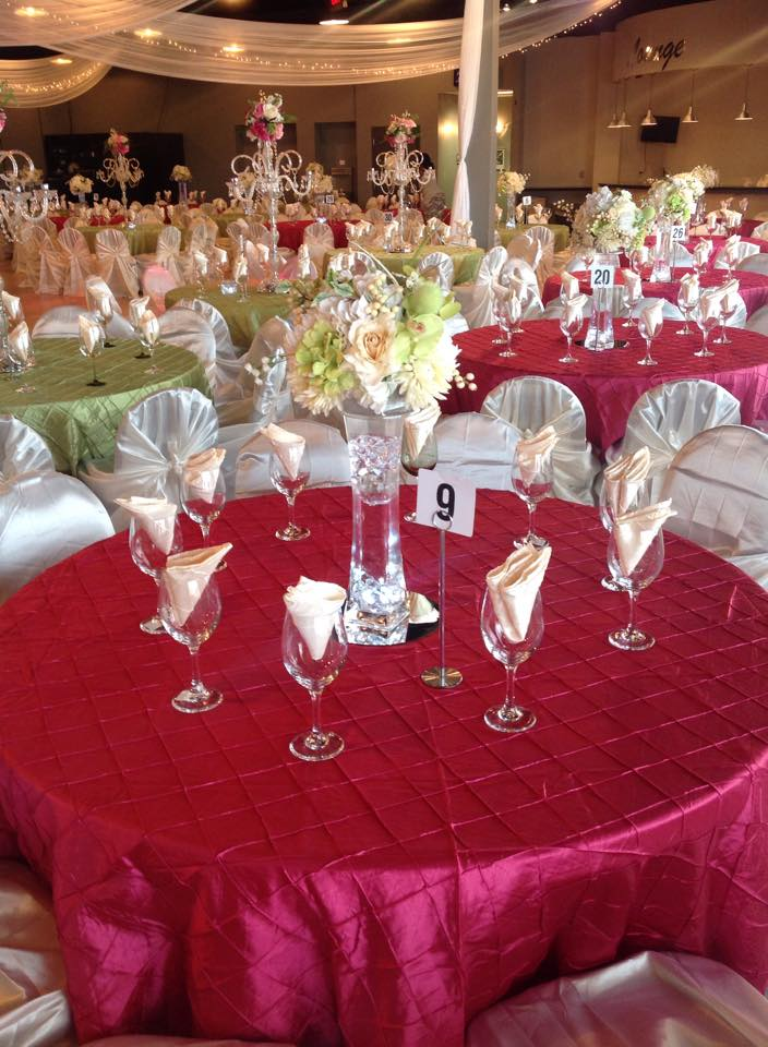 A Pink Themed Wedding Reception Setup In The Grand Ballroom.