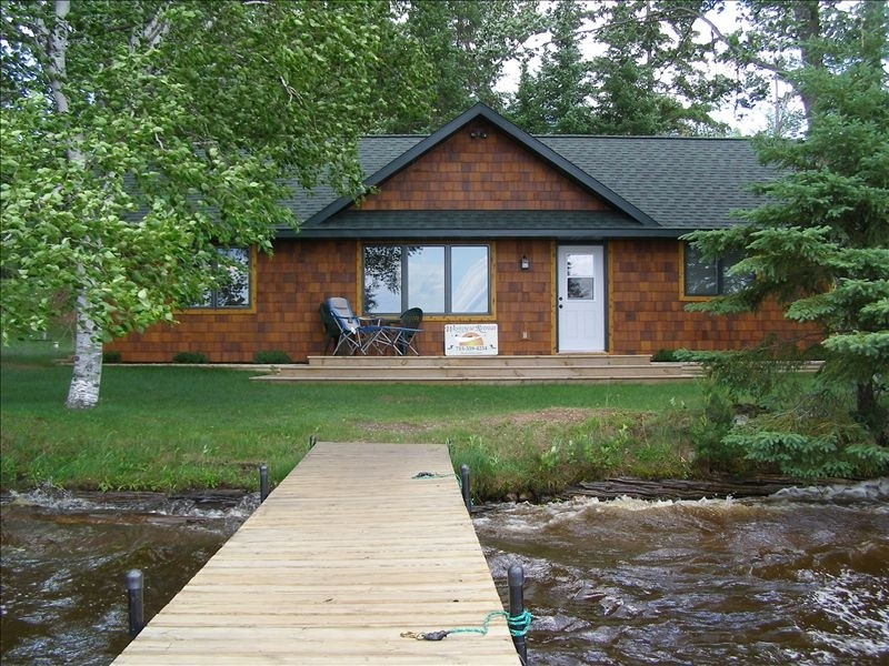 The Westview Retreat Cabin located on the beautiful shores of Solberg Lake in Phillips, Wisconsin.
