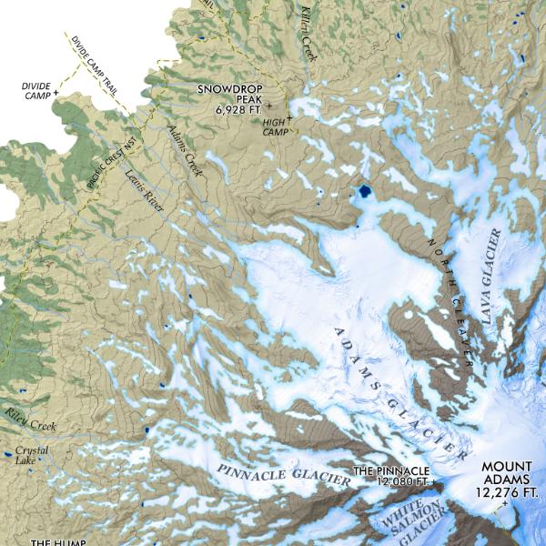 Mt Adams Washington Map.Mount Adams Washington Mitchell Geography