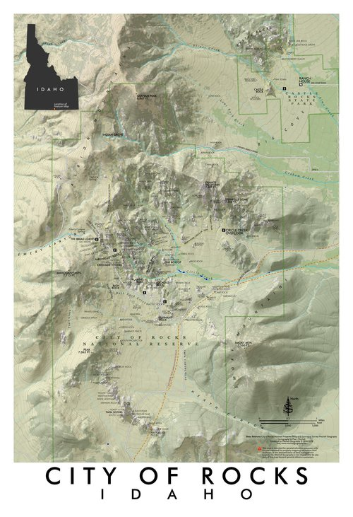 Silver Valley Idaho Map.Maps Mitchell Geography