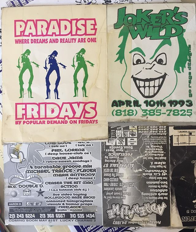 Once Upon A Time... These flyers were taped to a wall, in a teenage bedroom. Los Angeles CA  Circa 1993