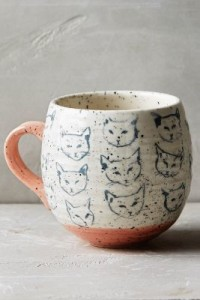 Leah Goren Cat Study Mug