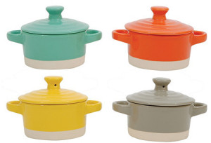 Round Stoneware Mini Bakers