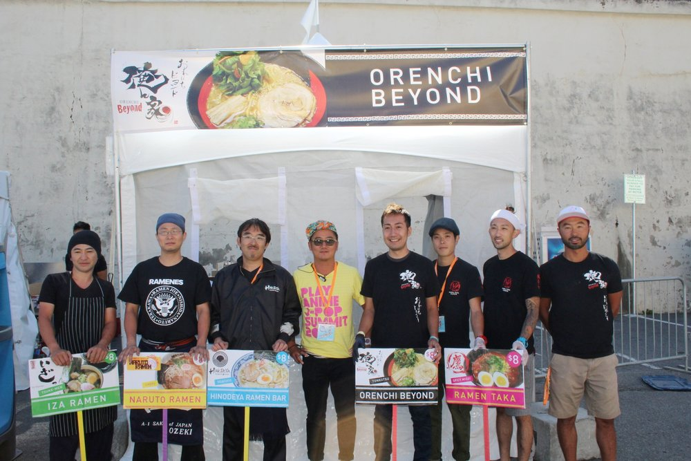 A line up of this year's ramen chefs!